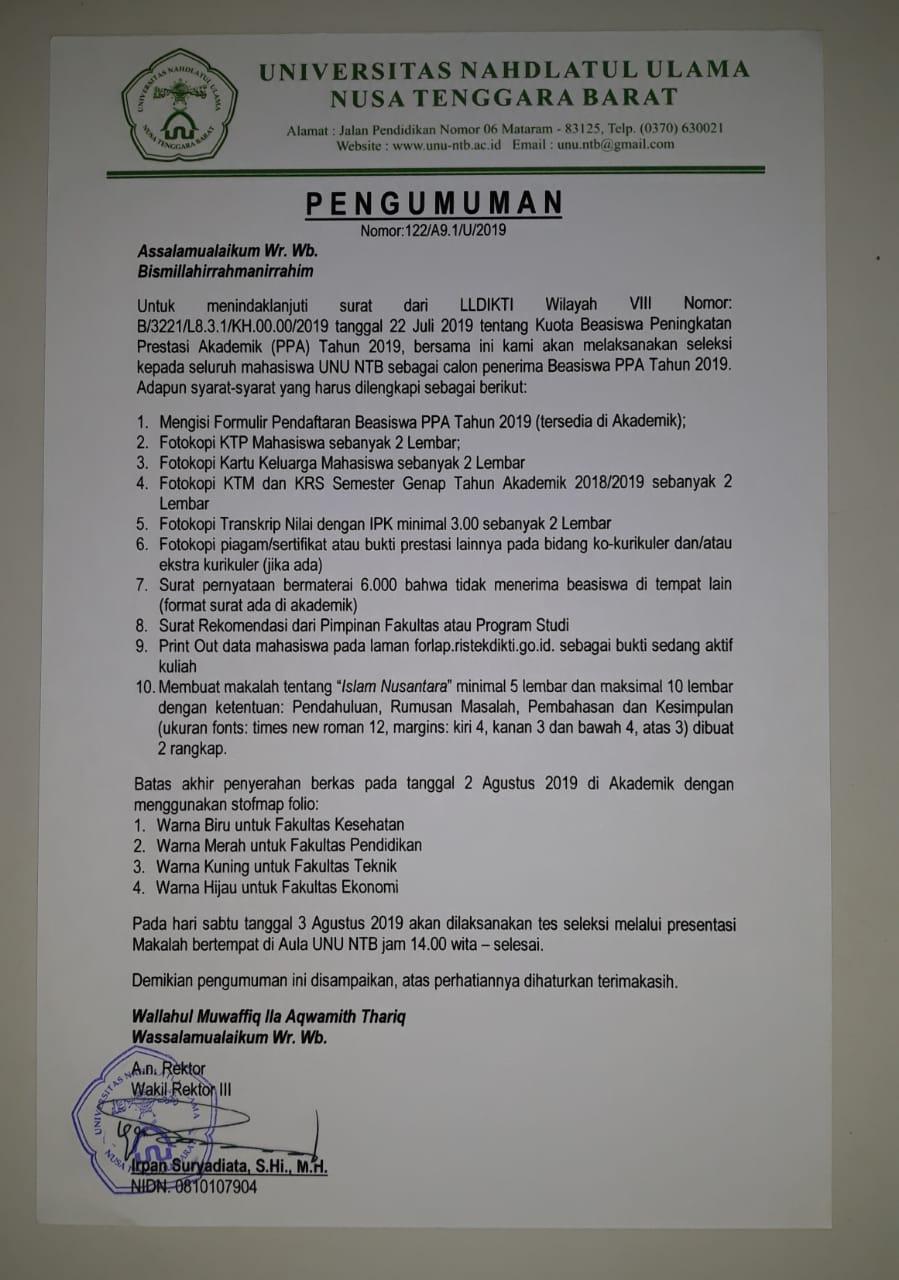 Yuhuuuu! BEASISWA PPA 2019 Datang Menyapa..